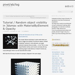 Tutorial / Random object visibility in 3dsmax with MaterialByElement & Opacity