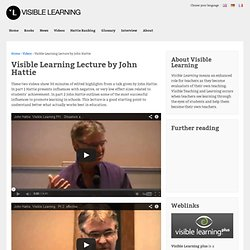 Visible Learning Lecture by John Hattie