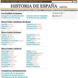 Los reyes Godos, Los Visigodos, Los Suevos, Los Vándalos - Nubeluz, historia de España