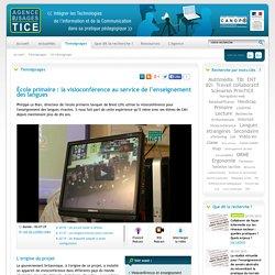 L'Agence nationale des Usages des TICE - École primaire : la visioconférence au service de l'enseignement des langues