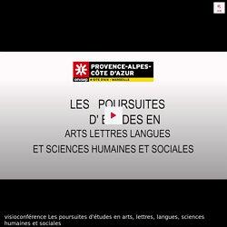 visioconférence Les poursuites d'études en arts, lettres, langues, sciences humaines et sociales
