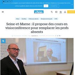 Seine-et-Marne : il propose des cours en visioconférence pour remplacer les profs absents - Le Parisien