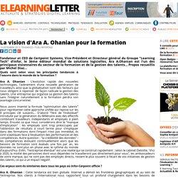 La vision d'Ara A. Ohanian pour la formation