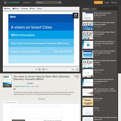 Vision on smart cities