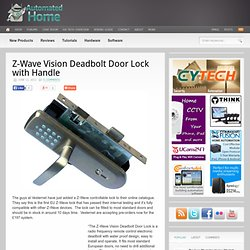 Z-Wave Vision Deadbolt Door Lock with Handle | Automated Home