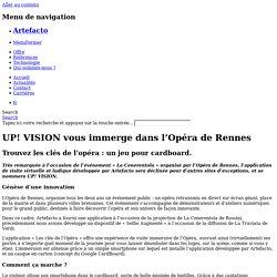 UP! VISION vous immerge dans l'Opéra de Rennes - Artefacto
