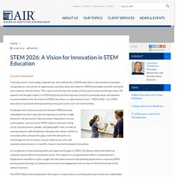 STEM 2026: A Vision for Innovation in STEM Education