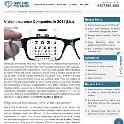 5 Best Vision Insurance Companies of the U.S. in 2020