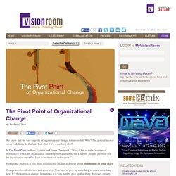 The Vision Room The Pivot Point of Organizational Change - The Vision Room