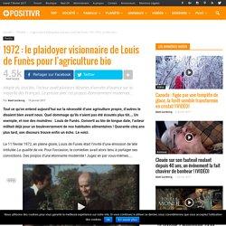 1972 : le plaidoyer visionnaire de Louis de Funès pour l'agriculture bio