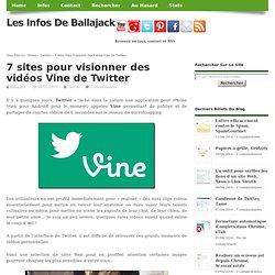 7 sites pour visionner des vidéos Vine de Twitter