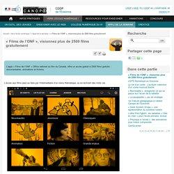 « Films de l'ONF », visionnez plus de 2500 films gratuitement - Canopé Essonne