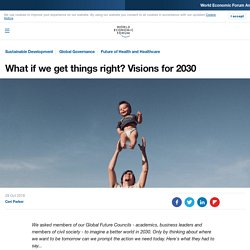 30 visions for a better world in 2030