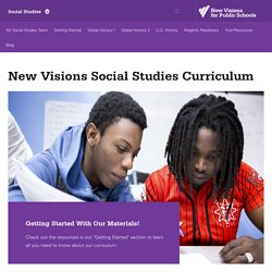 New Visions Social Studies Curriculum | New Visions - Social Studies