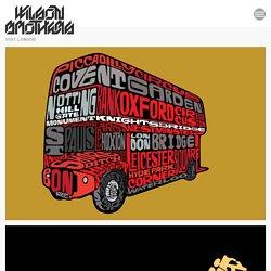 London. name art. bus etc