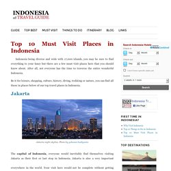 Top 10 Must Visit Places in Indonesia