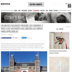 Un museo holandés prohibe las cámaras y pide a los visitantes que dibujen las obras para apreciarlas - Cultura Inquieta