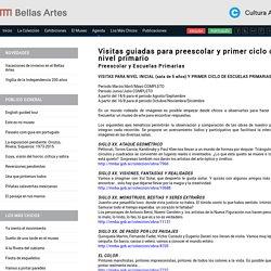 Visitas Guiadas Para Preescolar Y Primer Ciclo De Nivel Primario