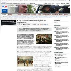 CEMA : visite aux forces françaises en Afghanistan