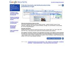 Visite guidée de Google Documents