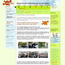 """Visite du RESE """"jardin & rénovation urbaine"""". Paris 20e"""