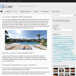 La visite virtuelle 360° progresse