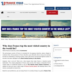 Why does France top the most visited country in the world list?