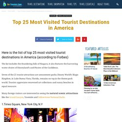 25 Most Visited Tourist Attractions