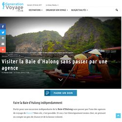 Visiter la Baie d'Halong sans passer par une agence