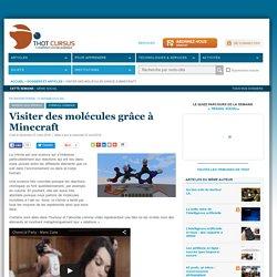 Visiter des molécules grâce à Minecraft