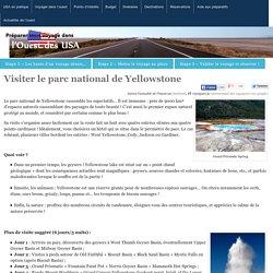 Visiter le parc national de Yellowstone - Voyage dans l'Ouest des USA