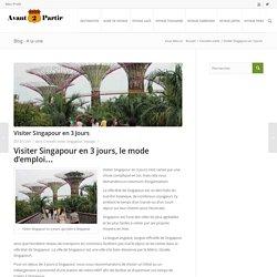 Visiter Singapour en 3 jours, conseils et mode d'emploi