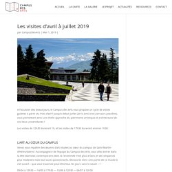 Les visites d'avril à juillet 2019 - Campus des Arts