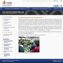 Les visites industrielles - CSMO Textile