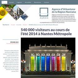540 000 visiteurs au cours de l'été 2014 à Nantes Métropole