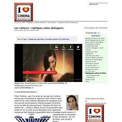 Les visiteurs : répliques cultes (dialogues) - I love cinema
