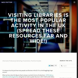 Visiting libraries is the most popular activity in the UK (spread these resources far and wide!)