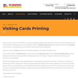 Visiting Cards Printing Services in Tricity