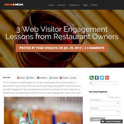 3 Web Visitor Engagement Lessons from Restaurant Owners