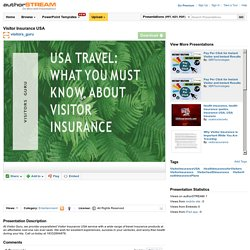 Get the best Visitors Insurance Services in the USA