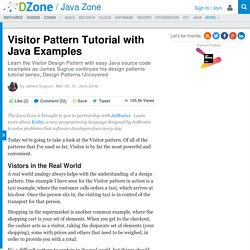 Visitor Pattern Tutorial with Java Examples
