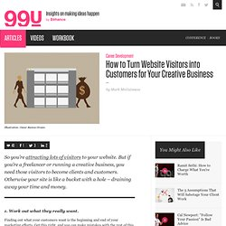 How to Turn Website Visitors into Customers for Your Creative Business