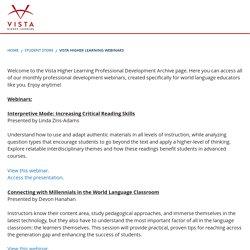 Vista Higher Learning Webinars
