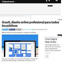 Un vistazo a Gravit, una plataforma de diseño online todoterreno