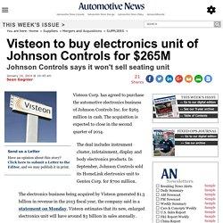 Visteon to buy electronics unit of Johnson Controls for $265M