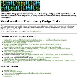 Visual Aesthetic Evolutionary Design Link