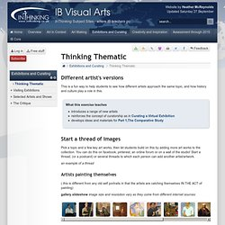 IB Visual Arts: Thinking Thematic