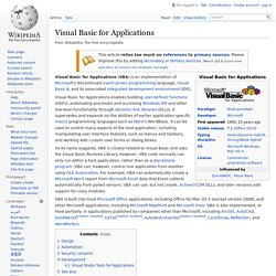 Visual Basic for Applications (wikipedia)
