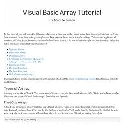 Visual Basic Arrays Tutorial