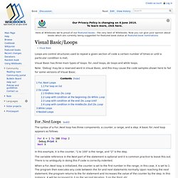 Visual Basic/Loops